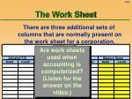 the work sheet62