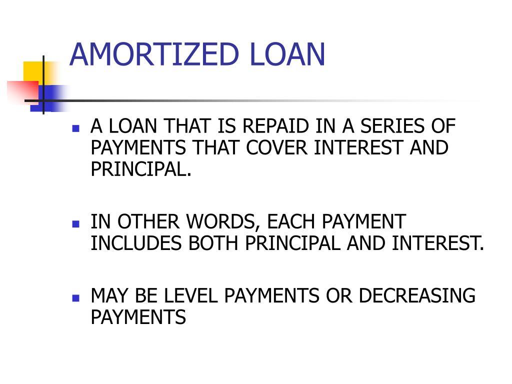 amortized loan l.