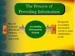 the process of providing information18