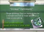 drinker definitions 1