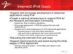 internet2 ipv6 goals