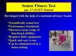 senior fitness test pgs 17 18 sft manual