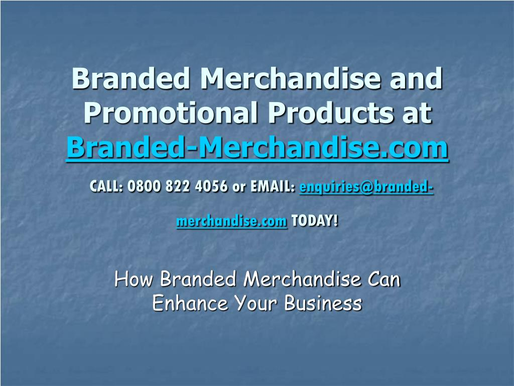how branded merchandise can enhance your business l.