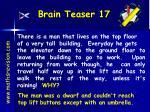 brain teaser 17