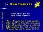 brain teasers 19
