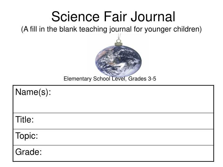 science fair journal a fill in the blank teaching journal for younger children n.