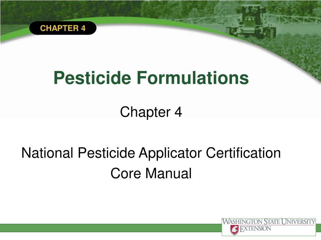 pesticide formulations l.