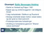 eksempel baltic beverages holding