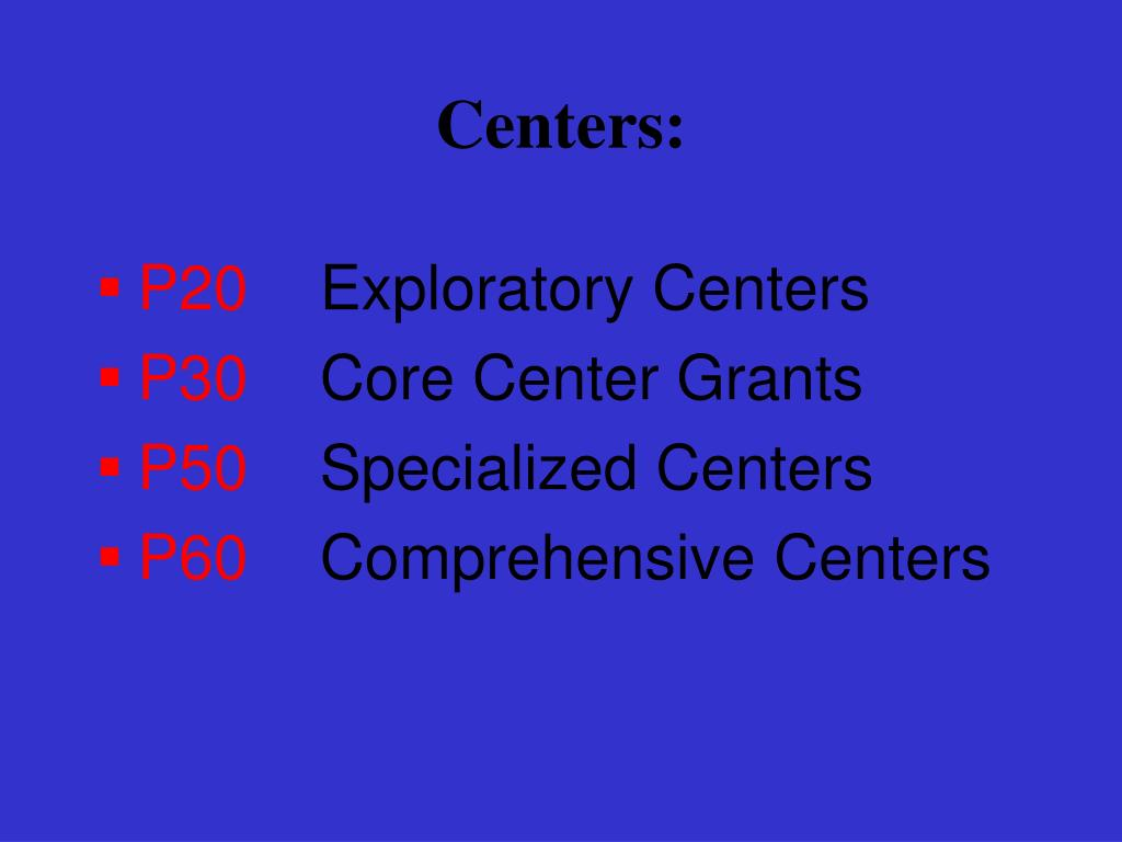 Centers: