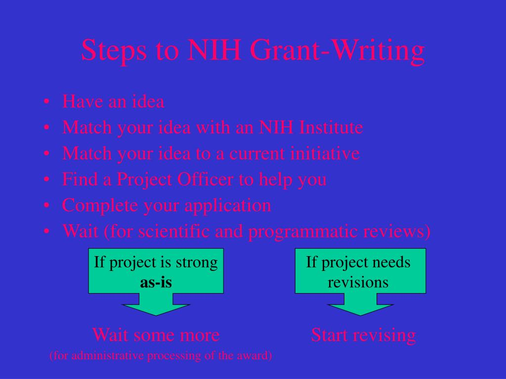 Steps to NIH Grant-Writing