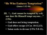 he who endures temptation james 1 12 169