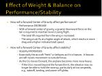 effect of weight balance on performance stability45