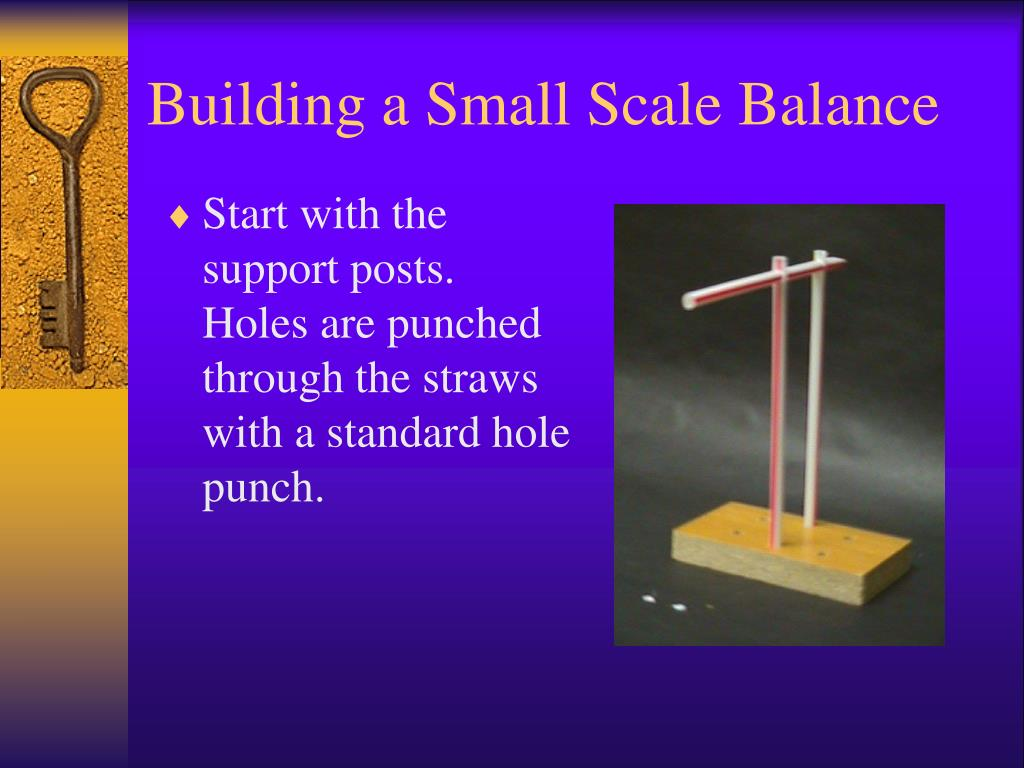 building a small scale balance l.