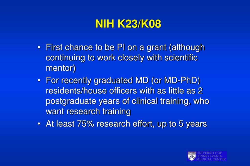 NIH K23/K08