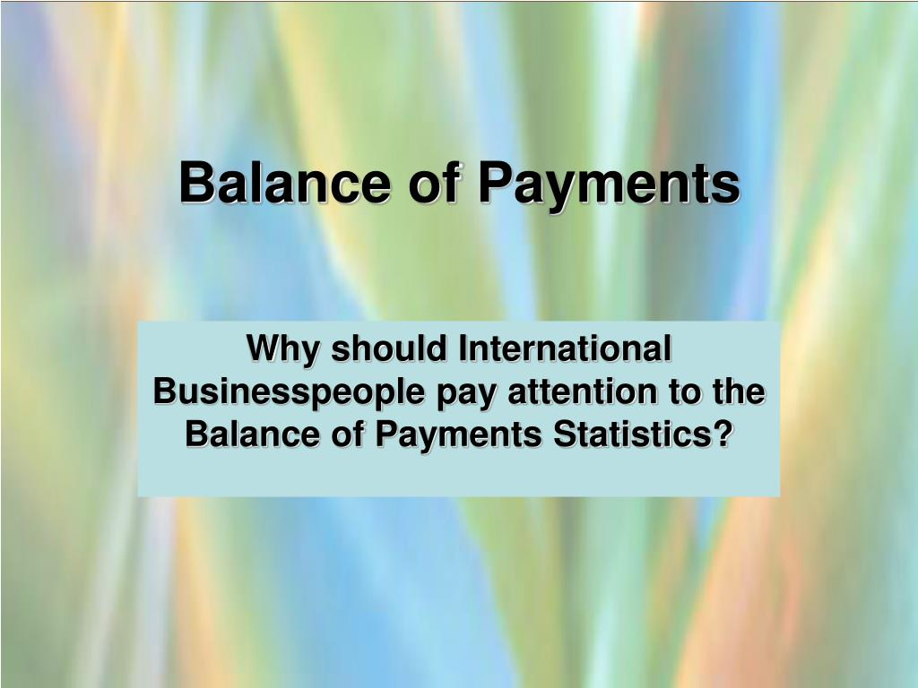 balance of payments l.