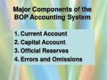 major components of the bop accounting system