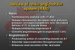review of renin angiotensin system ras