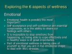 exploring the 6 aspects of wellness8