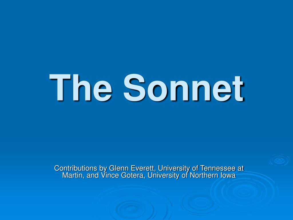the sonnet l.