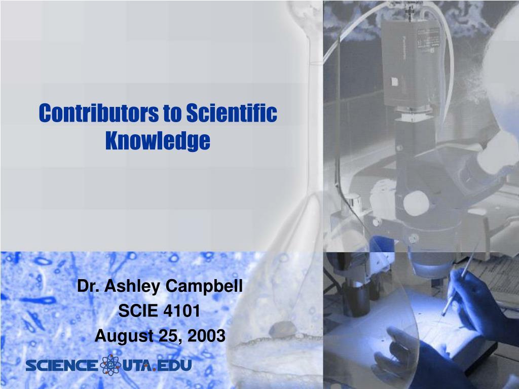 contributors to scientific knowledge l.