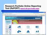 research portfolio online reporting tool report report nih gov index aspx