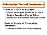 substantive tests of investments12