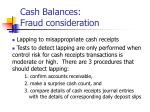 cash balances fraud consideration