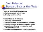 cash balances standard substantive tests24