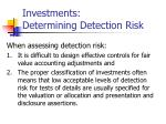 investments determining detection risk14