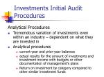 investments initial audit procedures