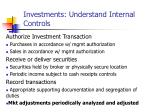 investments understand internal controls11