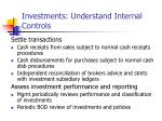 investments understand internal controls12
