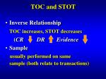 toc and stot