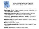 grading your grant