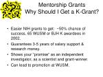 mentorship grants why should i get a k grant