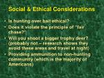 social ethical considerations