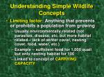 understanding simple wildlife concepts