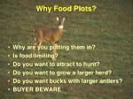 why food plots