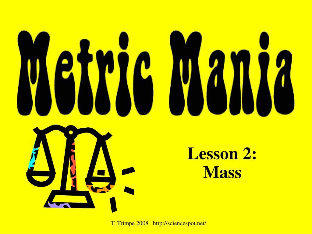 lesson 2 mass l.