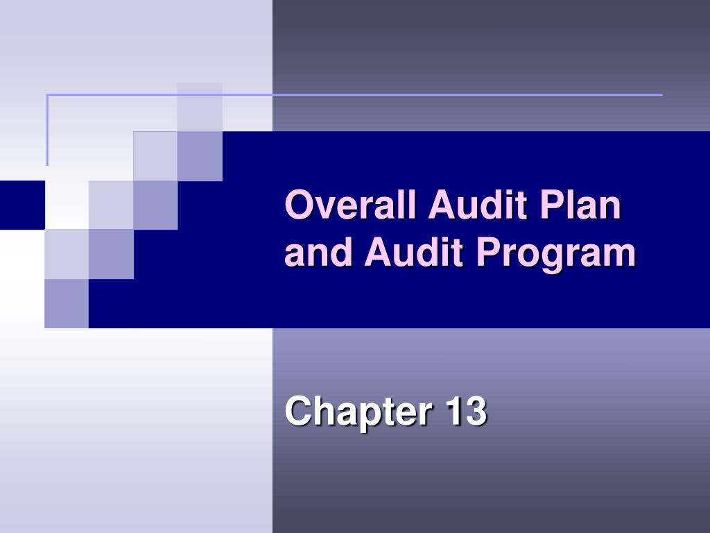 overall audit plan and audit program l.
