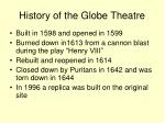 history of the globe theatre