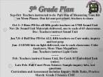 5 th grade plan