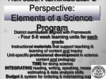 from csde administrator s perspective elements of a science program