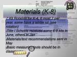 materials k 832