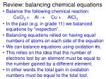 review balancing chemical equations