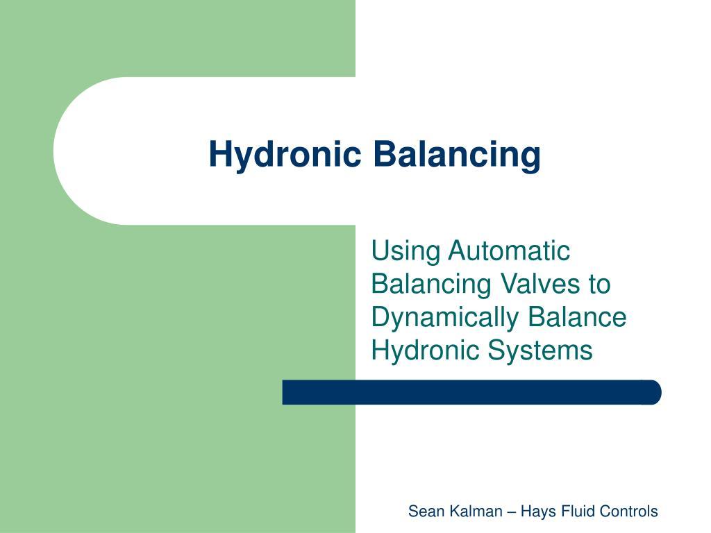 hydronic balancing l.