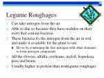 legume roughages