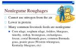 nonlegume roughages