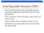 total digestible nutrients tdn