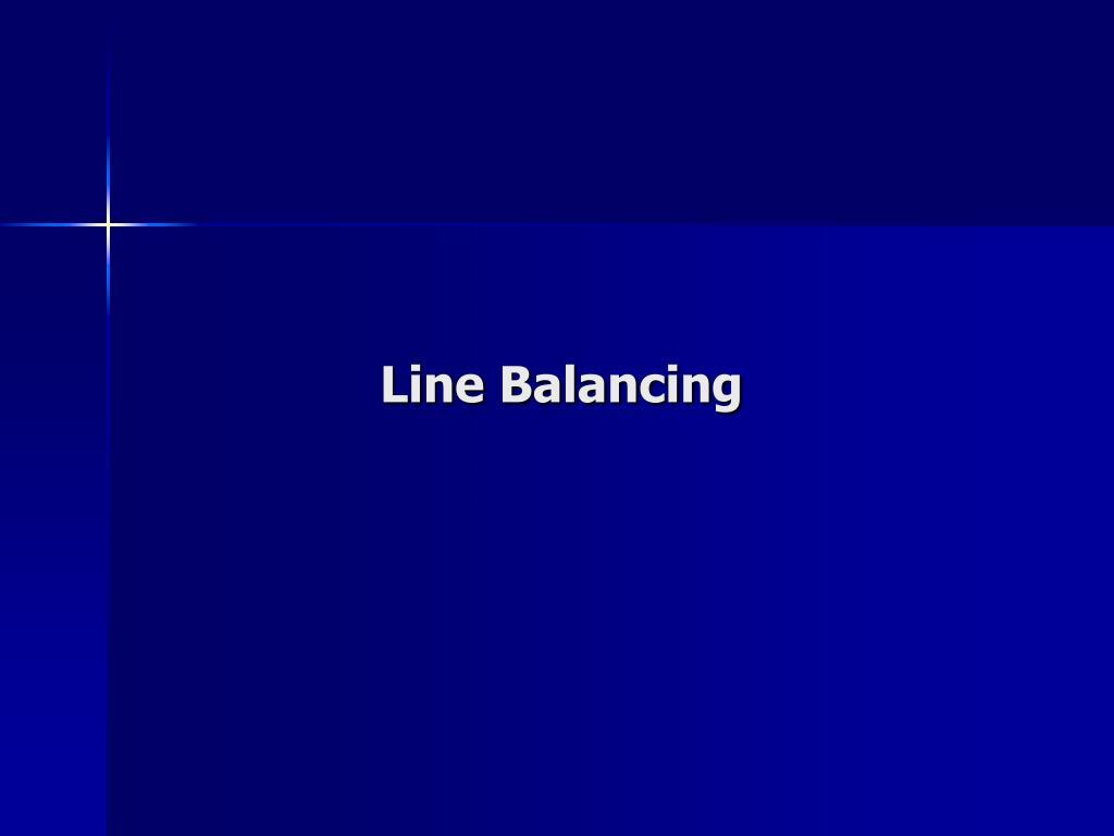 line balancing l.
